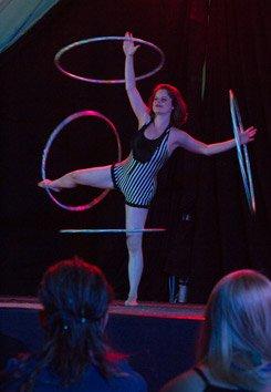 Hannah's hula hoops. Copyright Chaka September