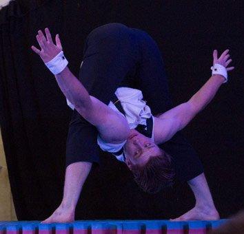 David's flexibility. Copyright Chaka September