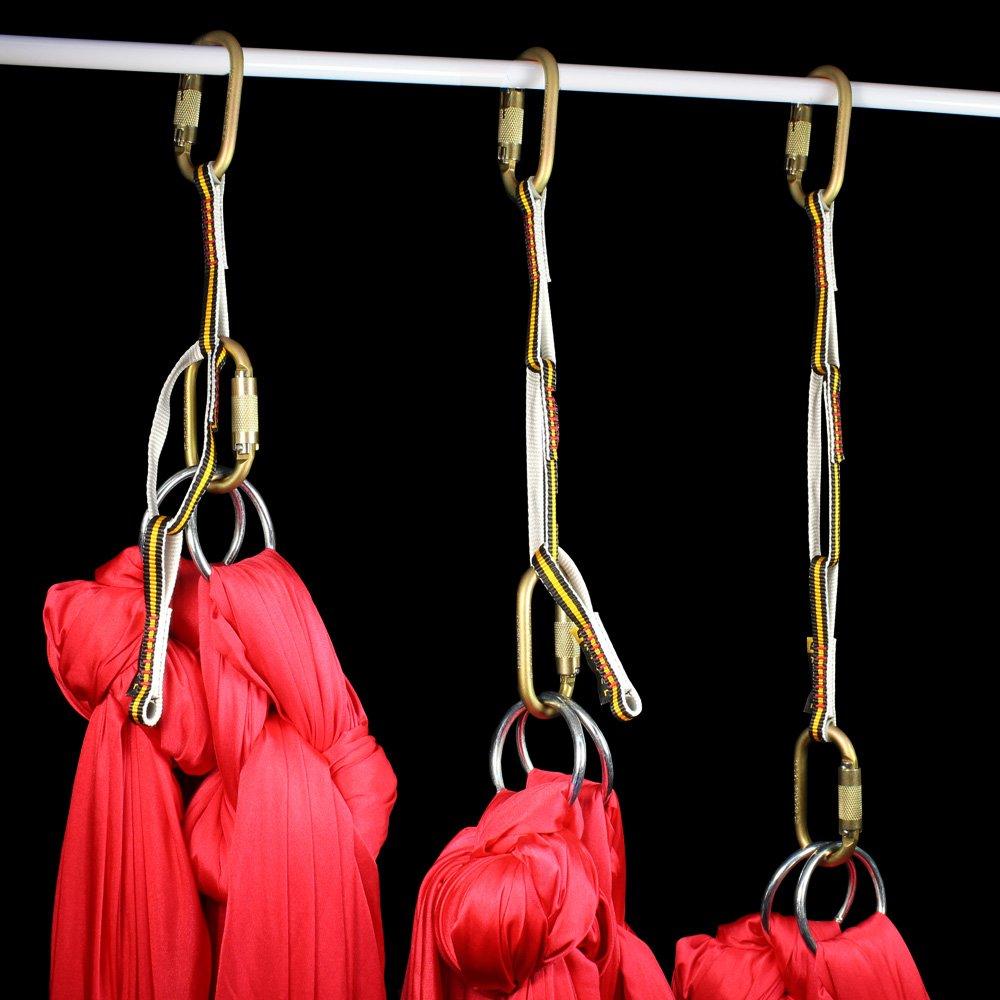 Aerial hammocks rigged with daisy chain
